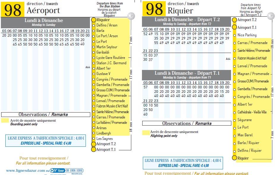 Расписание автобуса 98